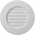 "20""W x 20""H x 1 1/2""P, Round Gable Vent Louver, Decorative"