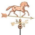 32&quot;L x 16&quot;H Smithsonian Running Horse Weathervane, Polished Copper
