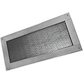 "6""H x 14""W (41 Sq. In. Venting Area) Vulcan Fire Stopping Foundation or Soffit Vent for Wood Siding or Fiber Cement Board, Galvanized Steel"