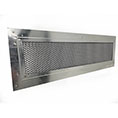 "5 1/2""H x 22""W (75 Sq. In. Venting Area) Vulcan Fire Stopping Soffit Vent for Fiber Cement Board, Galvanized Steel"