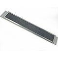 "3 1/2""H x 22""W (41 Sq. In. Venting Area) Vulcan Fire Stopping Soffit Vent for Stucco, Galvanized Steel"