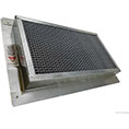 "8""H x 14""W (62 Sq. In. Venting Area) Vulcan Fire Stopping Foundation or Soffit Vent for Stucco with Foam Siding, Galvanized Steel"