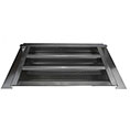 "14""W x 8""H (35 Sq. In. Venting Area) Vulcan Fire Stopping Gable Vent for Stucco, Galvanized Steel"