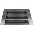 "14""W x 8""H (35 Sq. In. Venting Area) Vulcan Fire Stopping Gable Vent for Flush Mount, Galvanized Steel"