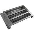 "14""W x 8""H (35 Sq. In. Venting Area) Vulcan Fire Stopping Flat Back Gable Vent, Galvanized Steel"