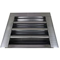 "14""W x 12""H (52 Sq. In. Venting Area) Vulcan Fire Stopping Gable Vent for Flush Mount, Galvanized Steel"