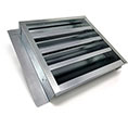 "14""W x 12""H (52 Sq. In. Venting Area) Vulcan Fire Stopping Retrofit Gable Vent, Galvanized Steel"