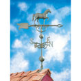 "14""L x 11 1/4""H 46"" Horse Traditional Directions Weathervane, Verdigris"