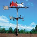 "14 3/4""L x 6""H 30"" Fire Wagon Traditional Directions Weathervane, Rooftop Color"