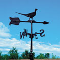 10&quot;L x 6&quot;H 24&quot; Pheasant Accent Directions Weathervane, Black