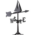 6 1/2&quot;L x 8&quot;H 24&quot; Sailboat Accent Directions Weathervane, Black