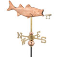 "17""L x 9 1/2""H Bass and Lure Weathervane, Polished Copper"