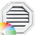 18&quot;W x 18&quot;H Octagon Gable Vent Louver, 26 Sq. Inch Vent Area