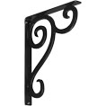 "1 1/2""W  x 12""D x 15""H Devon Single, Wrought Iron Bracket, (Single center brace)"