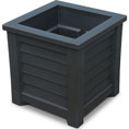 "16""W x 16""D x 16""H Lakeland Planter Box, Black"