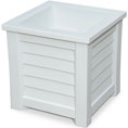 "16""W x 16""D x 16""H Lakeland Planter Box, White"