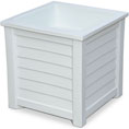 "20""W x 20""D x 20""H Lakeland Planter Box, White"