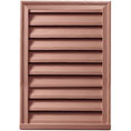 "20""W x 30""H Vertical Louver, Decorative, Woodgrain/Stainable"