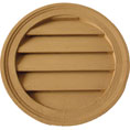 "22""W x 22""H Round Louver, Decorative, Woodgrain/Stainable"