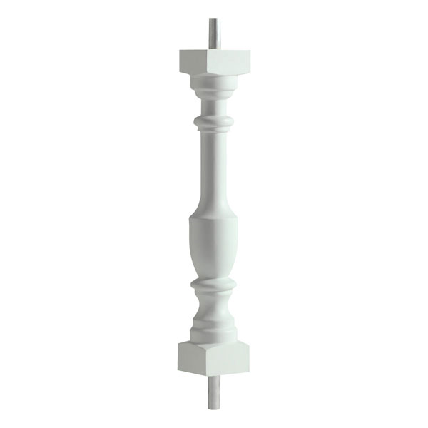 "3""W x 20""H Logan Baluster, 5 7/16"" On Center Spacing For 4"" Sphere Code"