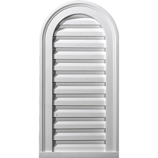 "12""W x 24""H x 1 7/8""P, Cathedral Gable Vent Louver, Decorative"