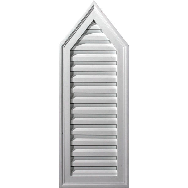"12""W x 32""H x 1 3/4""P, 8/12 Pitch, Peaked Gable Vent, Decorative"