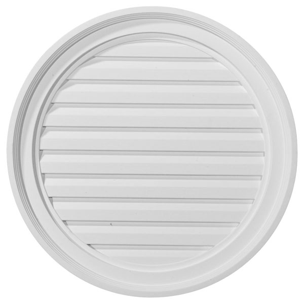 "22""W x 22""H x 1 5/8""P, Round Gable Vent Louver, Decorative"