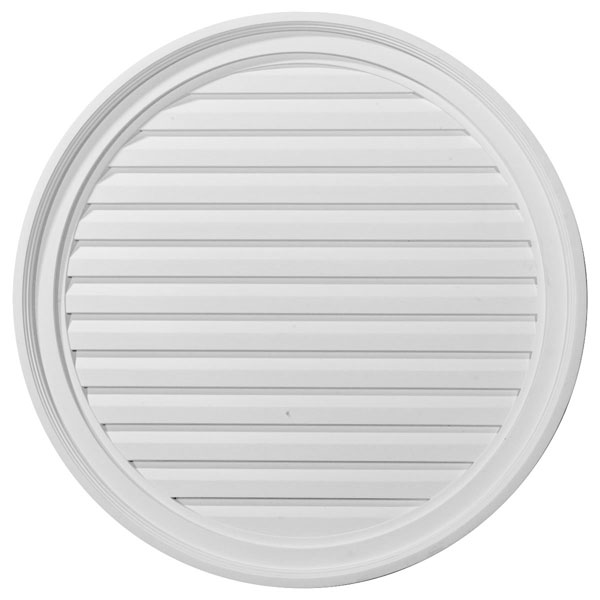 "28""W x 28""H x 2 1/4""P, Round Gable Vent Louver, Decorative"