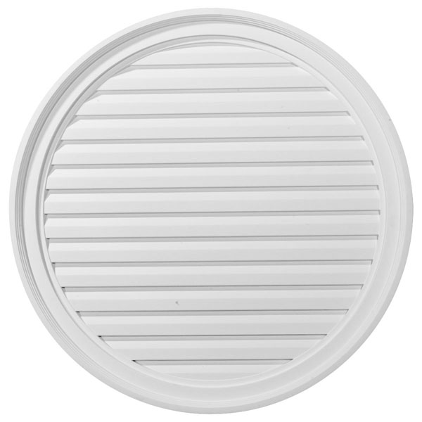 "30""W x 30""H x 2 1/4""P, Round Gable Vent Louver, Decorative"