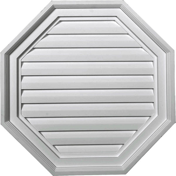 "22""W x 22""H x 2 1/8""P,  Octagon Gable Vent Louver, Decorative"