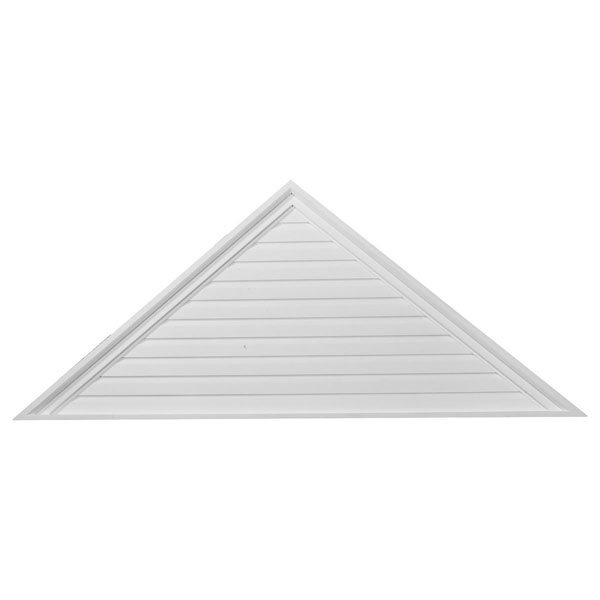 "72""W x 18""H x 2 1/8""P,  Pitch 6/12 Triangle Gable Vent, Decorative"