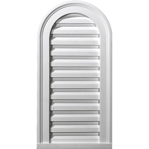 "16""W x 36""H x 2 1/8""P, Cathedral Gable Vent Louver, Functional"
