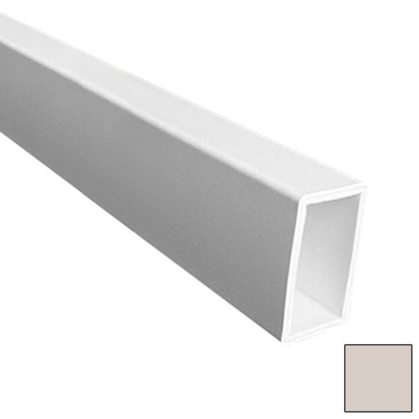 """FLAT BOTTOM RAIL, Tan for Square Spindles, 144"""""""
