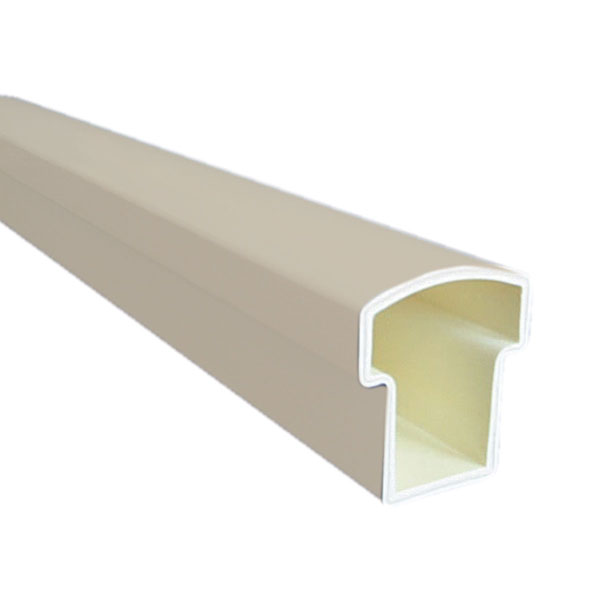 """DELUXE TOP RAIL, Tan for Square Spindles, 120"""""""