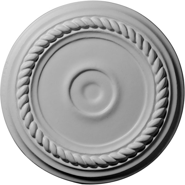 """7 7/8""""OD x 1 1/8""""ID x 3/4""""P Small Alexandria Ceiling Medallion (Fits Canopies up to 1 7/8"""")"""