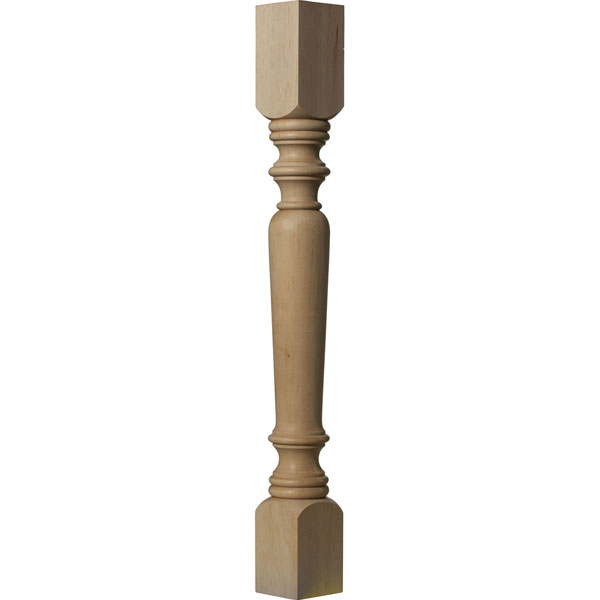 "3 3/4""W x 3 3/4""D x 35 1/2""H Legacy Tapered Cabinet Column (Top Block: 6 1/8"", Bottom Block: 7 1/8"")"