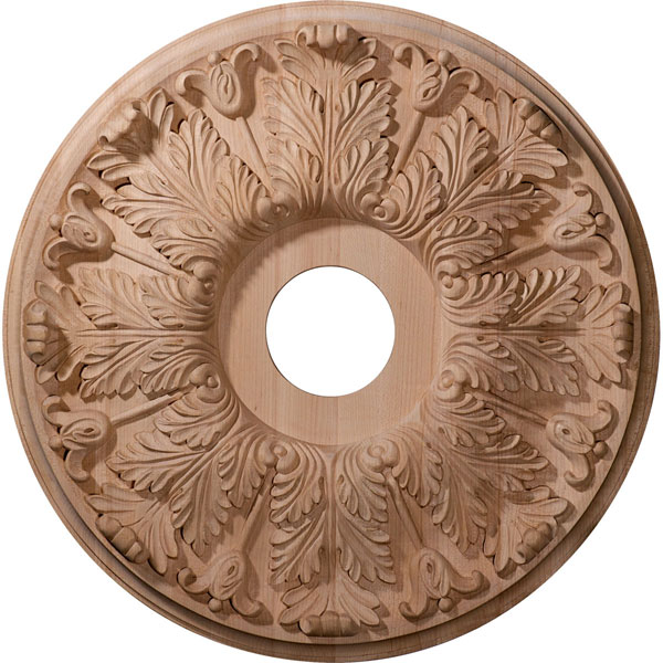 """16""""OD x 3 7/8""""ID x 1 1/8""""P Carved Florentine Ceiling Medallion (Fits Canopies up to 5 3/8"""")"""