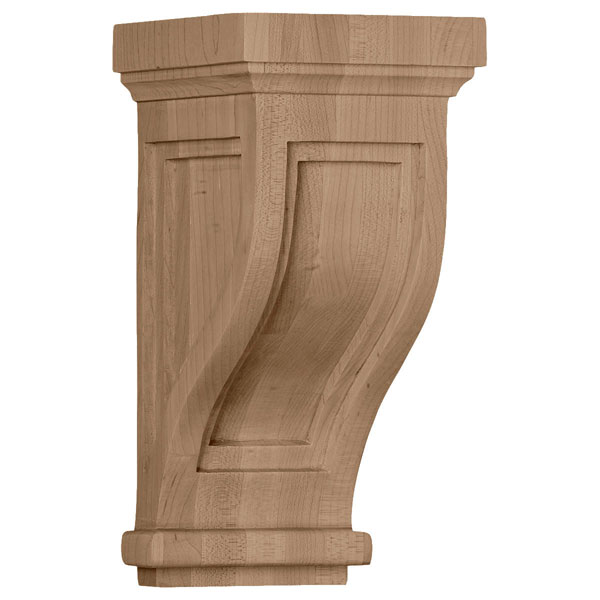 """4 3/4""""W x 5""""D x 10""""H Traditional Recessed Corbel"""