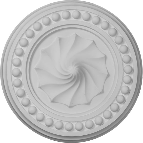 """15 3/4""""OD x 2""""P Foster Shell Ceiling Medallion"""