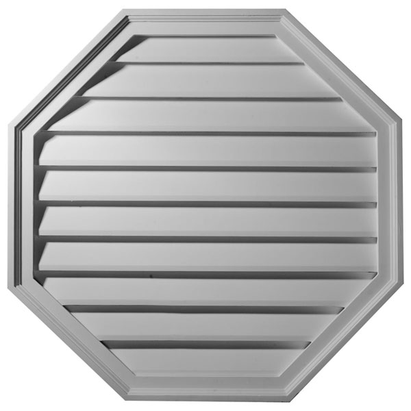 "18""W x 18""H x 2 1/2""P,  Octagon Gable Vent Louver, Decorative"