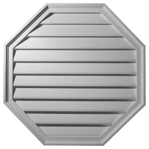 "30""W x 30""H x 2 3/8""P,  Octagon Gable Vent Louver, Decorative"