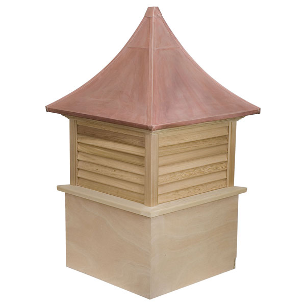 Western Red Cedar Stephenson Governor Louver Cupola with Copper Roof