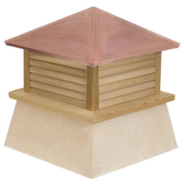 Western Red Cedar Stephenson Manchester Louver Cupola with Copper Roof