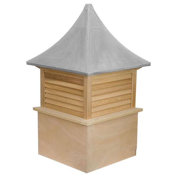Western Red Cedar Stephenson Governor Louver Cupola with Aluminum Roof