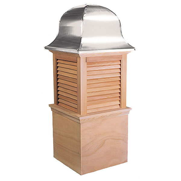 Western Red Cedar Stephenson Richmond Louver Cupola with Aluminum Roof