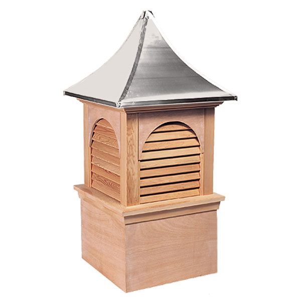 Western Red Cedar Stephenson Hyde Park & Charleston Louver Cupola with Aluminum Roof