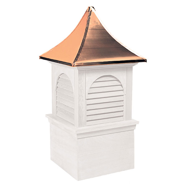 Vinyl Stephenson Hyde Park & Charleston Louver Cupola with Copper Roof