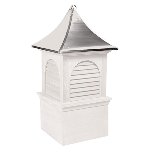 Vinyl Stephenson Hyde Park & Charleston Louver Cupola with Aluminum Roof