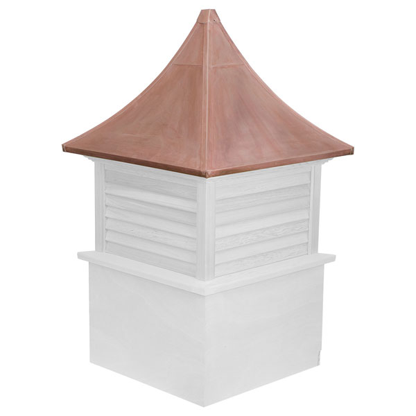 Vinyl Stephenson Governor Louver Cupola with Copper Roof
