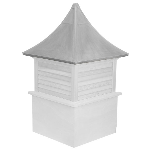 Vinyl Stephenson Governor Louver Cupola with Aluminum Roof